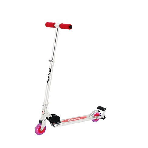Razor Spark Kids Folding Kick Scooter With Light Up Wheels And Bar Red Target