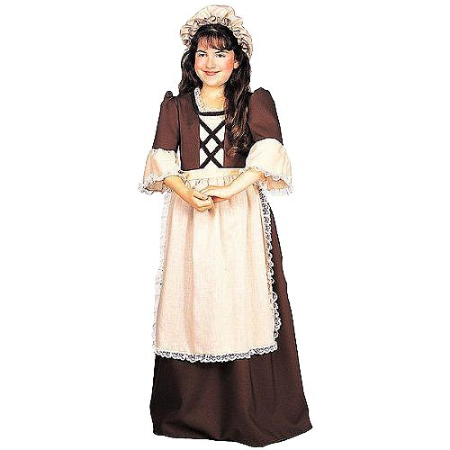 Halloween Girls' Colonial Girl Costume Small (4-6), Girl's, Size: Small(4-6)