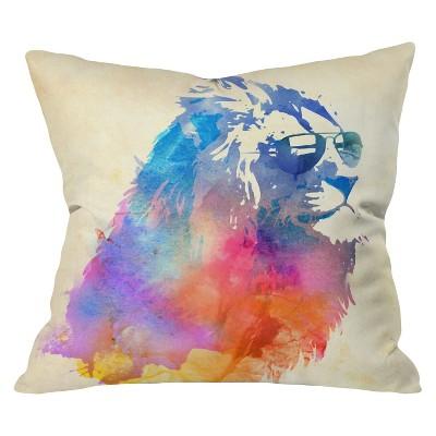 Blue Robert Farkas Sunny Leo Throw Pillow (20 x20 )- Deny Designs®