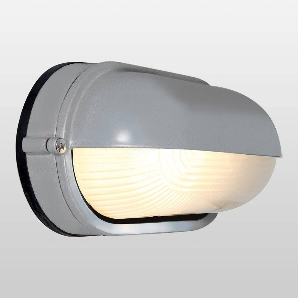 Image of Nauticus Wet Location LED Outdoor Wall Light with Frosted Glass Shade Gray - Access Lighting, Satin