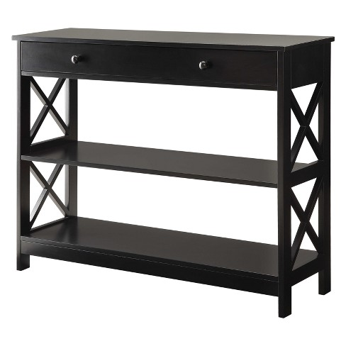 Oxford 1 Drawer Console Table Black - Johar - image 1 of 4