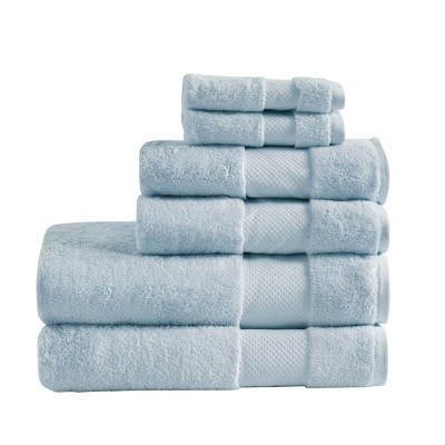 Turkish Cotton Bath Towel Set Light Blue