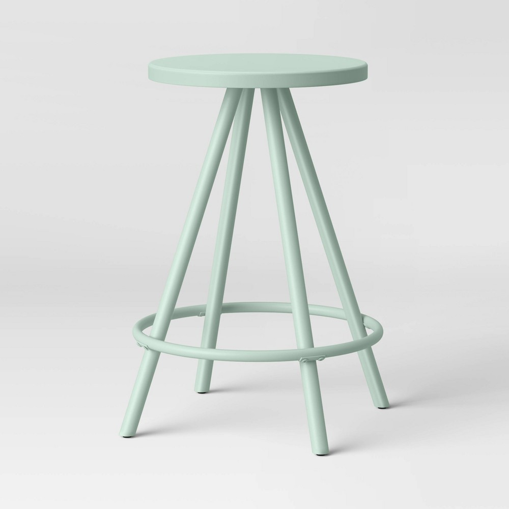 Image of Metal Counter Height Stool Mint - Room Essentials