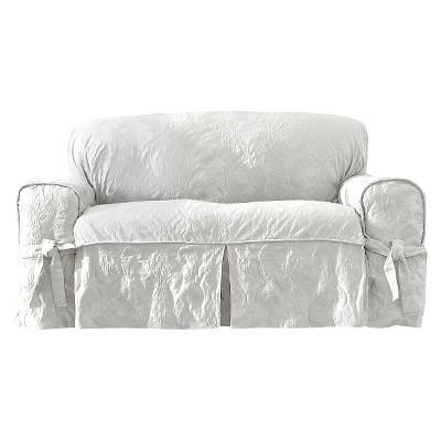 Matelasse Damask Sofa   Sure Fit