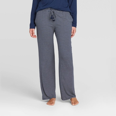 Women's Striped Beautifully Soft Pajama Pants - Stars Above™ Navy - image 1 of 2