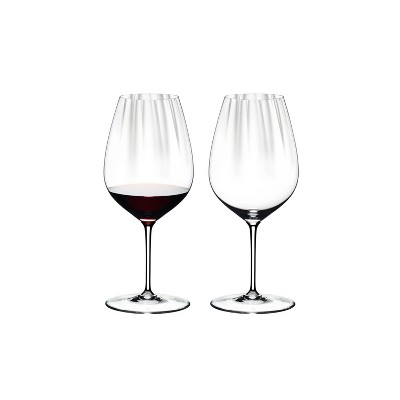 Riedel 6448/0 Performance Dishwasher Safe Clear Crystal Cabernet/Merlot High Tannin Red Wine Glass Set, 29.4 Ounces, (2 Pack)