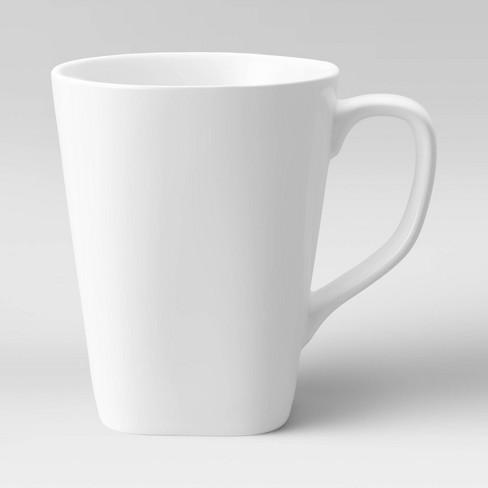 Square Coffee Mug 13oz Porcelain