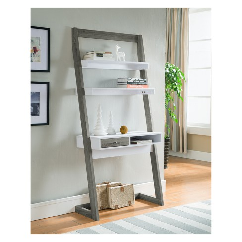 Ulrich Transitional Stand Up Desk Distressed Gray - HOMES: Inside + Out - image 1 of 5