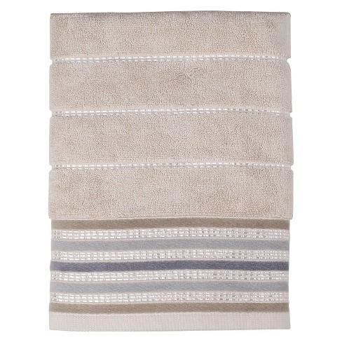 Colorware Stripe Bath Towels Neutral - Saturday Knight Ltd.® - image 1 of 1