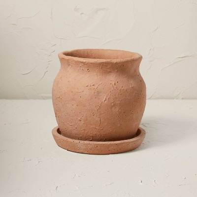 """9"""" Terracotta Planter Brown Clay - Opalhouse™ designed with Jungalow™"""