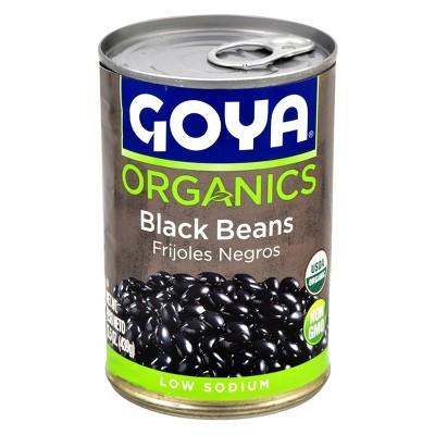 Beans: Goya Organics Black Beans Canned