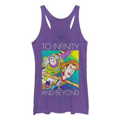 Women's Toy Story Infinity and Beyond Rainbow Racerback Tank Top