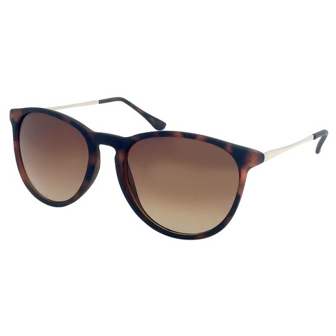 Women's Round Sunglasses - A New Day™ Brown - image 1 of 2