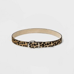 Women's Leopard Calf Hair Belt - Wild Fable™ Leopard