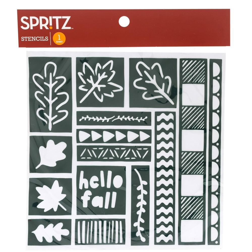 Image of 1 Sheet Lace Stencil Activity Kit Blue - Spritz