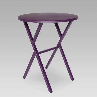 Taro Iron Patio Bistro Table Matte Purple - Christopher Knight Home