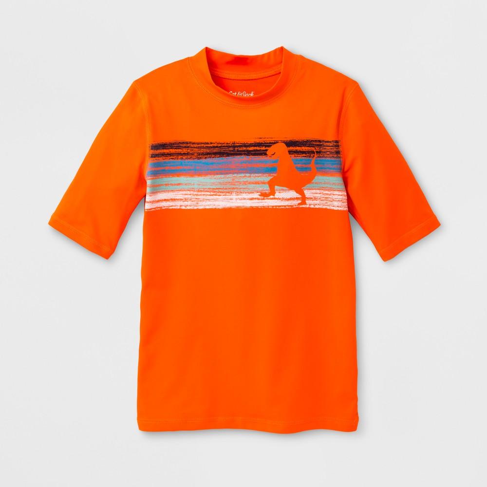 Boys' Dino Tracks Rashguard - Cat & Jack Orange S