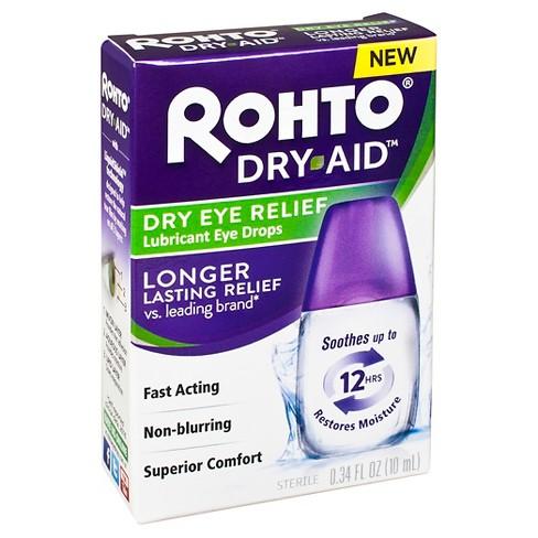 Rohto Dry-Aid Dry Eye Relief Eye Drops -.34 fl oz - image 1 of 4