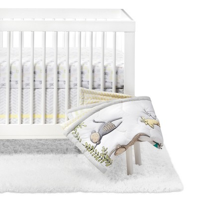 Crib Bedding Set Monkeys & Giraffes 4pc - Cloud Island™ - Yellow