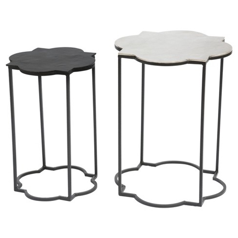 Bohemian - Chic Nesting Table Set - Black and White - Zm Home - image 1 of 9