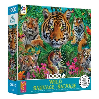 Ceaco Tiger Jungle Wild Jigsaw Puzzle - 1000pc