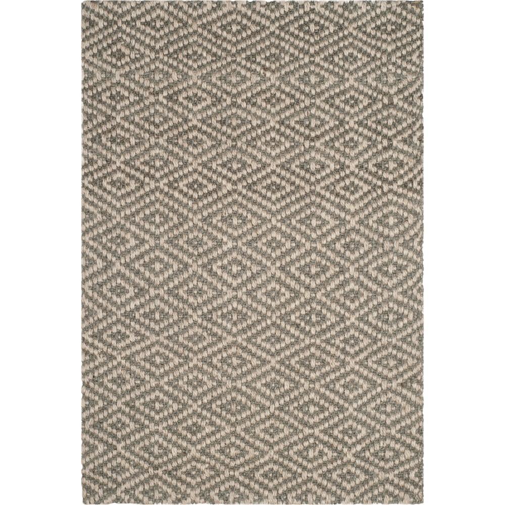 5'X8' Geometric Loomed Area Rug Ivory/Gray - Safavieh