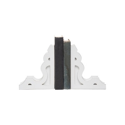 Set of 2 Wood Corbel Bookends - Foreside Home & Garden
