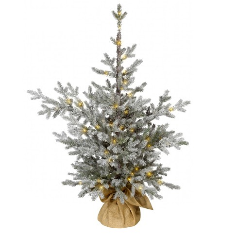 3ft flocked prelit slim artificial christmas tree potted balsam fir warm white dew drop led lights wondershop