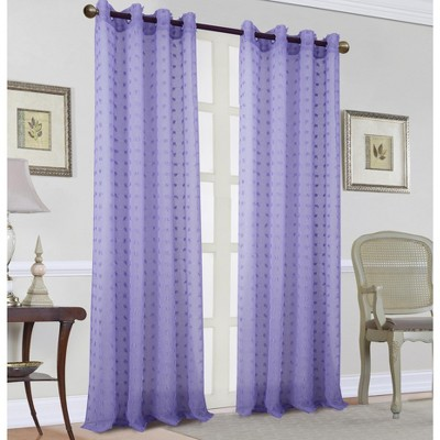 Ramallah Trading Rockford Clipped Doily 54 x 90 in Single Grommet Curtain Panel
