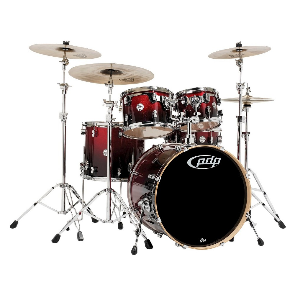 Pacific Drums CM5 Concept Maple Drum 5-Piece Shell Pack - Red Black Fade