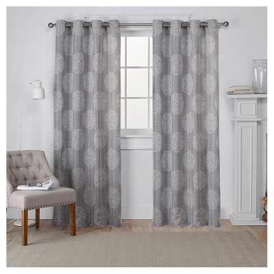 Set of 2 Akola Curtain Panel Ash Gray (54 x84 )- Exclusive Home™