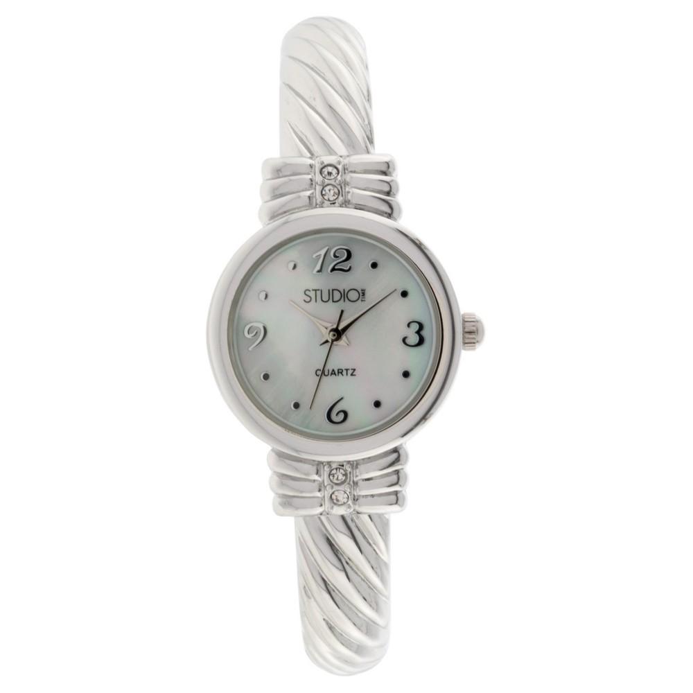 Women's Studio Time Bangle Watch - Light Silver