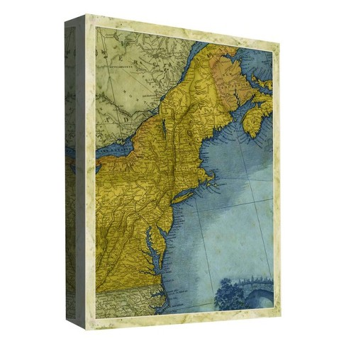 "Travel Map Decorative Canvas Wall Art 11""x14"" - PTM Images - image 1 of 1"