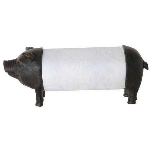 Pig Paper Tower Holder - 3R Studios - image 1 of 4