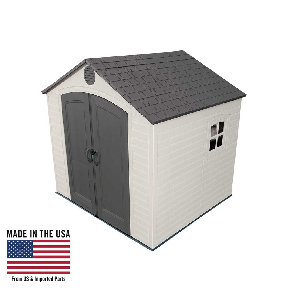 Outdoor Storage Shed 8' x 7.5' - Desert Sand - Lifetime, Gray
