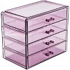 Sorbus Makeup and Jewelry Storage Case Display - 4 Large Drawers - image 2 of 4