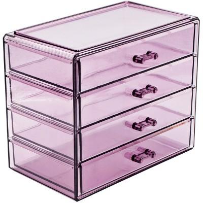 Sorbus Makeup And Jewelry Storage Case Display   4 Large Drawers : Target