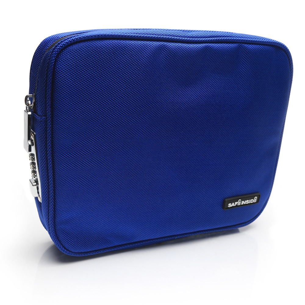 Safe Inside Locking Privacy Pouch - Medium Blue