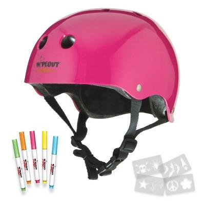 Wipeout Dry Erase Kids' Helmet - Neon Pink