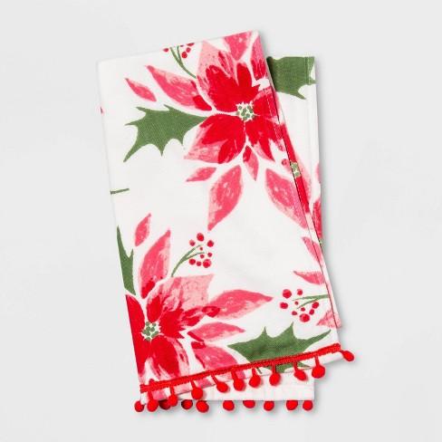 Poinsettia Hand Towel Cream - Opalhouse™ - image 1 of 2