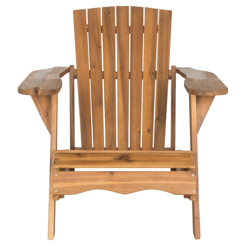 Bellagio Wood Patio Adirondack Chair Brown Safavieh