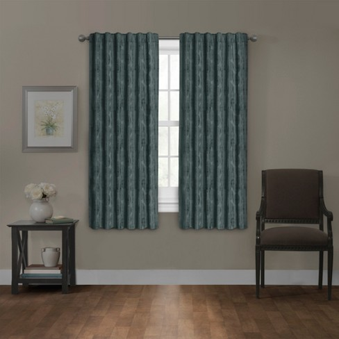 "Carlton Platinum Blackout Smart Curtain Panel Tundra Teal 50""x63"" - Maytex - image 1 of 8"