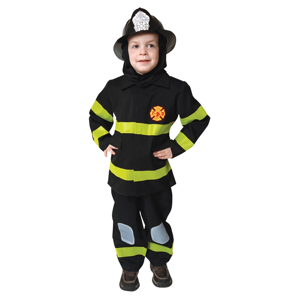 Image of Halloween Boys' Fire Fighter 3 To 4 Toddler Costume, Boy's, Size: Small, MultiColored