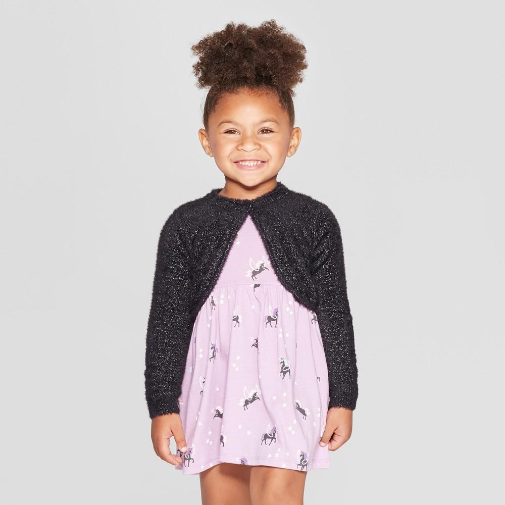 Toddler Girls' Eyelash Bolero Cardigan - Cat & Jack Black 12M