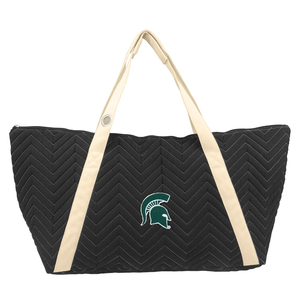 NCAA Michigan State Spartans Little Earth Chevron Stitch Weekender Bag