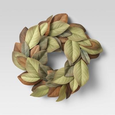 "20"" Artificial Magnolia Wreath - Threshold™"