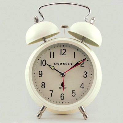 Twin Bell Alarm Clock Cream - Crosley