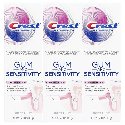 Crest Pro-Health Gum and Sensitivity Sensitive Toothpaste All Day Protection - 4.1oz/3pk