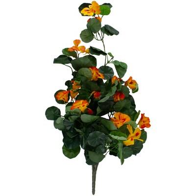 """Allstate Floral 30"""" Orange Nasturtium Artificial Flower Spray"""