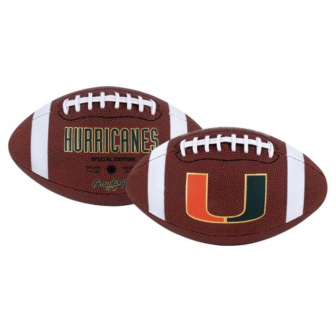 cheap for discount 29cdc 5a6d7 Miami Hurricanes Rawlings Official Game Full Size Football